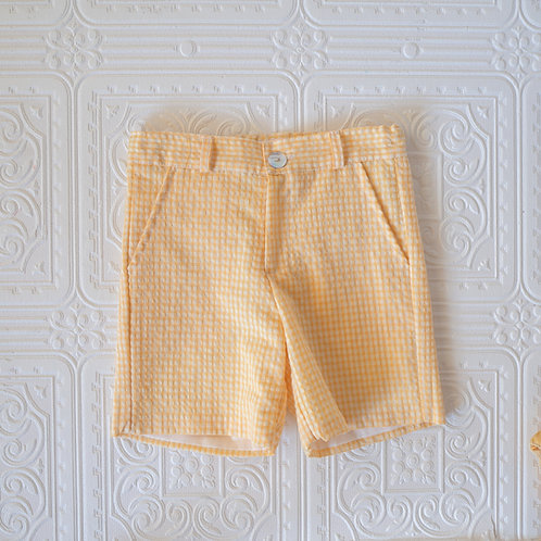 Short Tiger Vichy amarillo