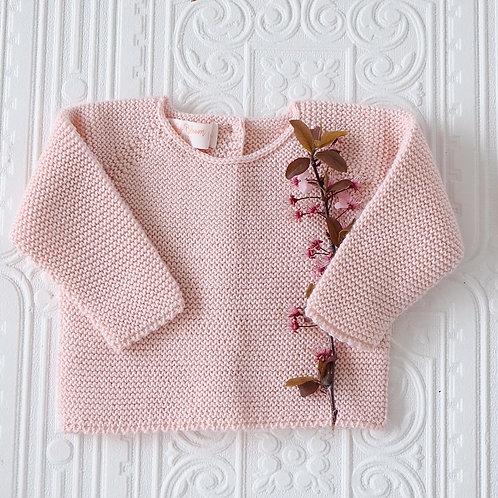 Jersey punto bebé rosa