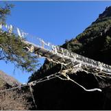 Bridge on the river Dudh Koshi