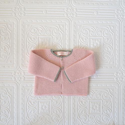Rebeca  punto PV21 rosa bebé filo kaki