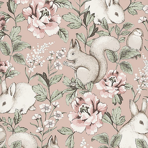 Rollo papel Conejitos rosa