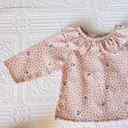Camisa Maio pingüins rosas