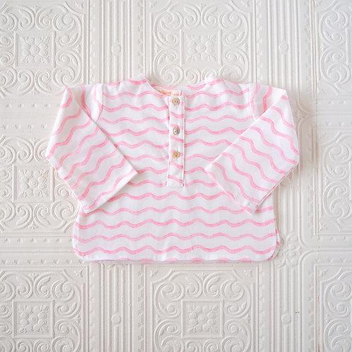Camisa Felipe ondas rosas