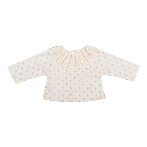 Camisa Maio mini flor crudo