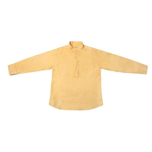Camisa Tomy lino limón