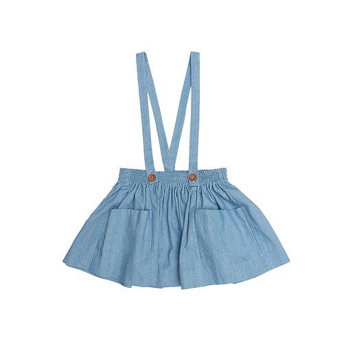 Falda pichi denim azul