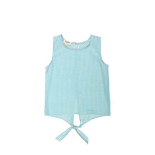 Camisa Anna raya turquesa