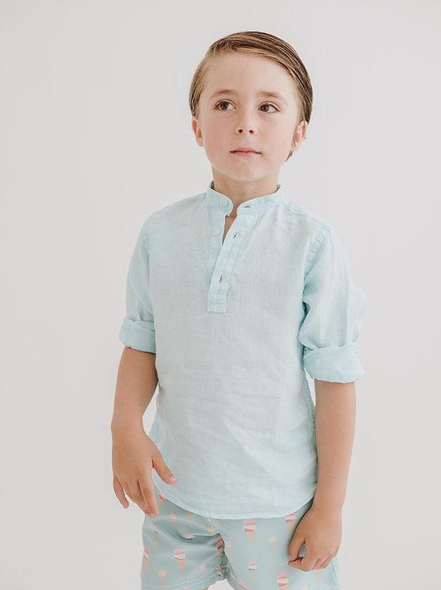 Camisa Tomy lino agua