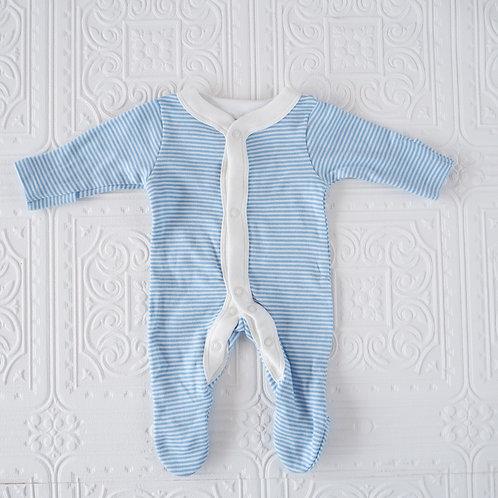 Pijama prematuro rayas azul