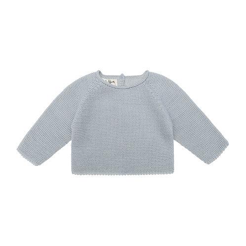 Jersey punto bebé gris
