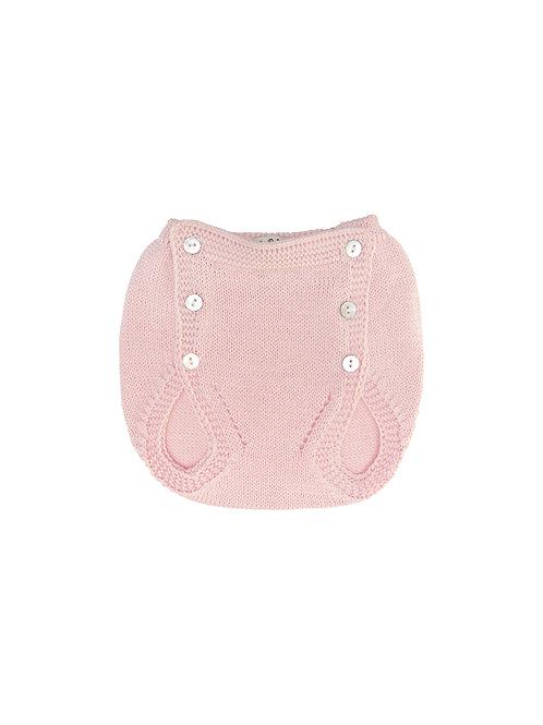 Cubre pañal botones punto rosa