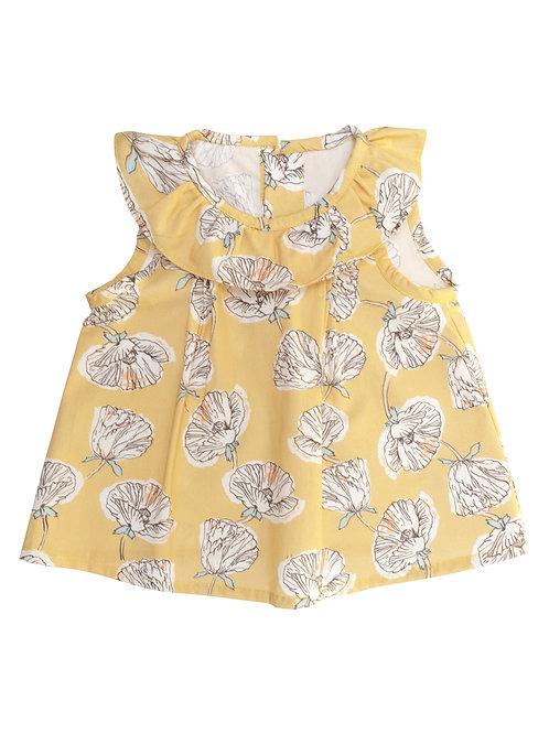 Camisa Pinkie S/M flores yema