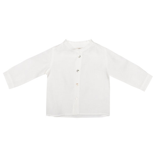 Camisa Pablo lino blanco