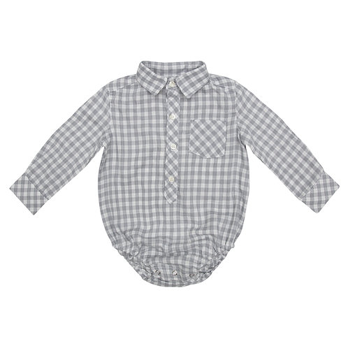 Camisa Oliver cuadros grises
