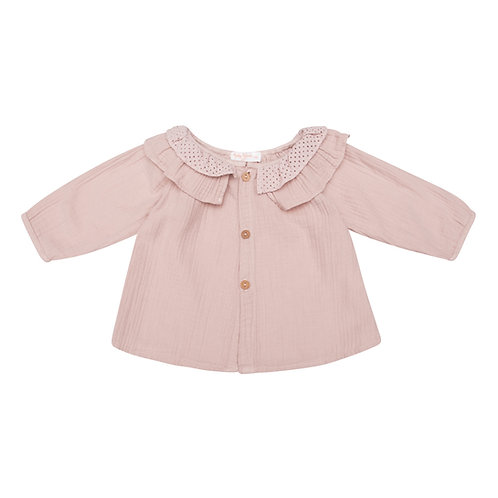 Camisa pintor gasa rosa