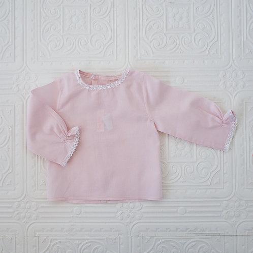Camisa New Born voile rosa malva