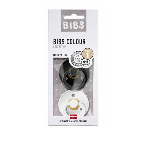 Dos chupetes BIBS Black&white