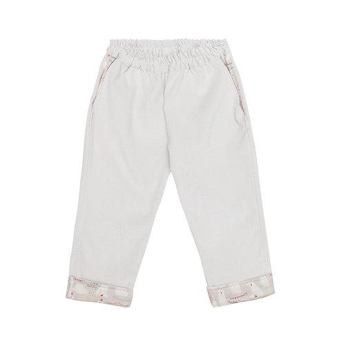 Pantalón cereza pana gris osos polares