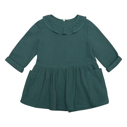 Vestido Nora gasa eucalipto