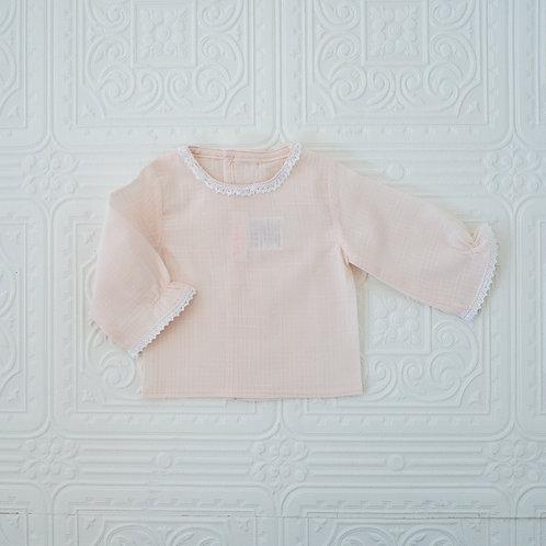 Camisa New Born bambula rosa
