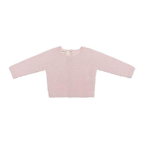 Jersey punto de arroz rosa