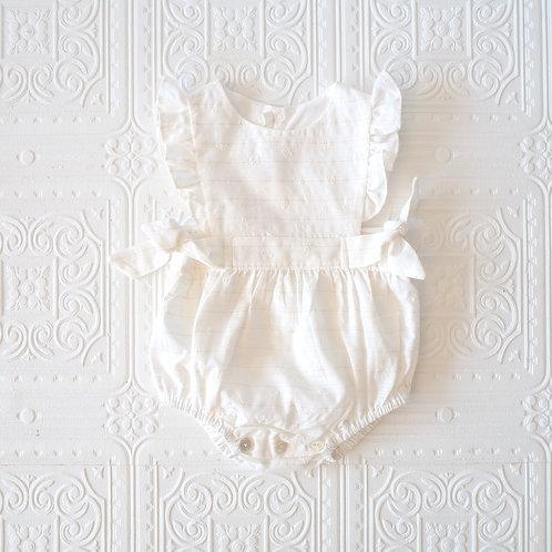 Pelele Lucia Jackard margaritas blancas