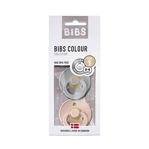 Dos chupetes BIBS cloud/blush