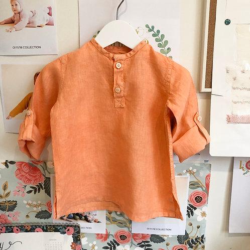 Camisa Tomy baby lino naranja