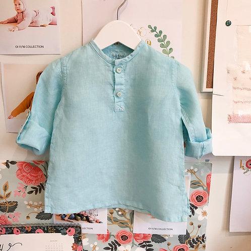 Camisa Tomy baby lino agua