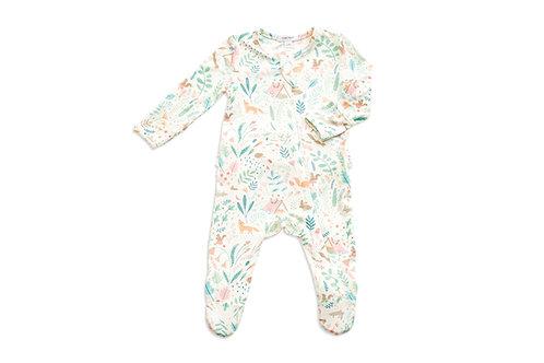 Pijama floral ruffle