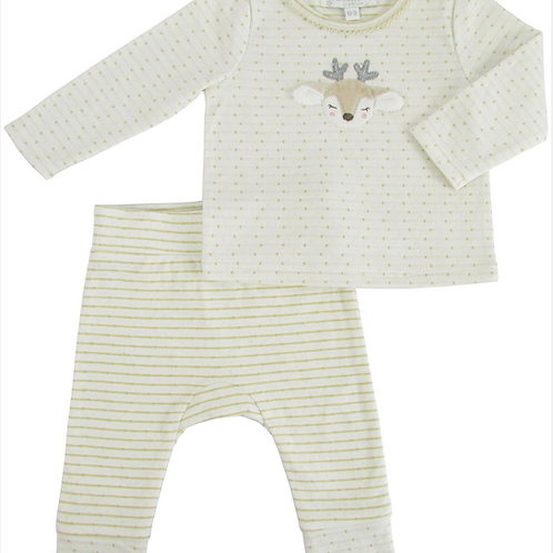 Pijama dos piezas ciervos