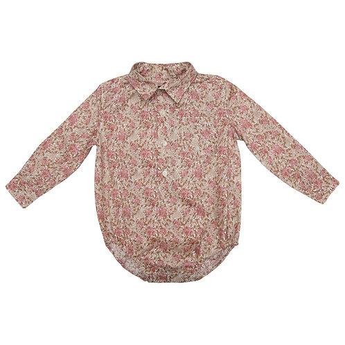 Camisa Oliver dalias rosas