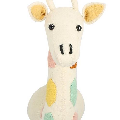 Cabeza jirafa multicolor mini