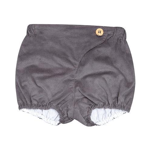 Pantalón botón micropana gris