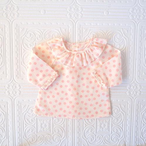 Camisa bebé Maio topitos rosa