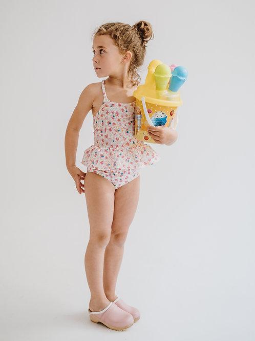 Bikini niña motas colores