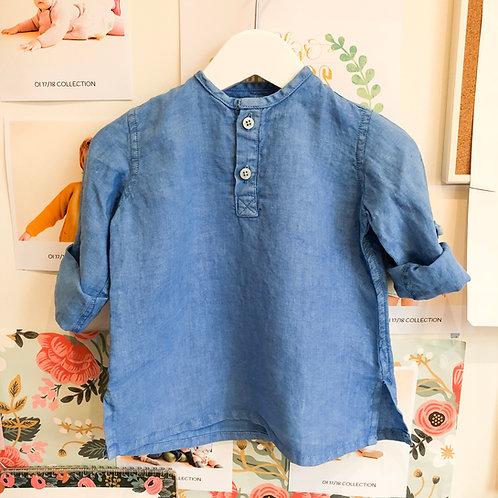 Camisa Tomy Baby lino azulón
