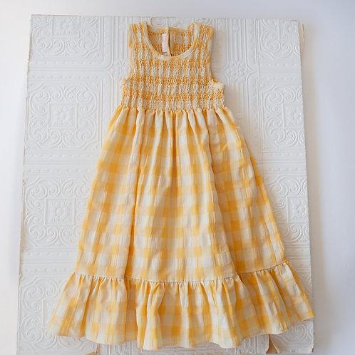 Vestido largo Paloma Vichy amarillo