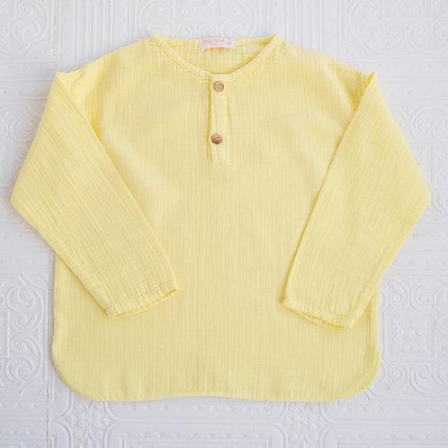Camisa Felipe bambula limón