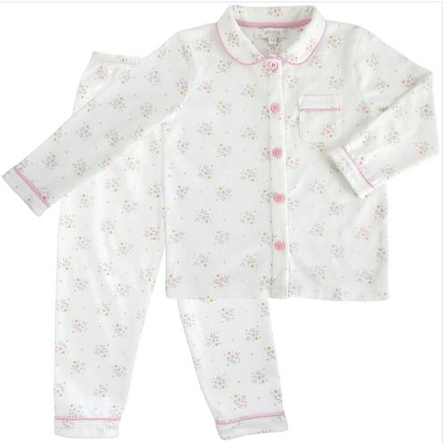 Pijama dos piezas florecitas rosa