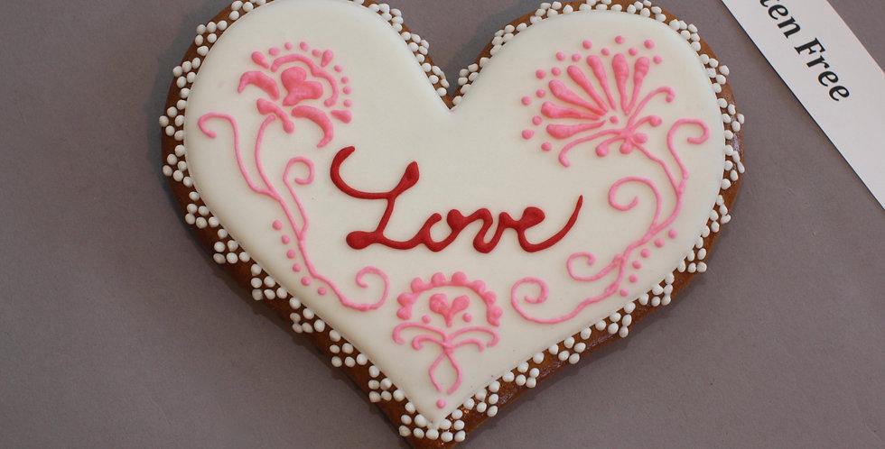 'Love in bloom' heart (gluten free)