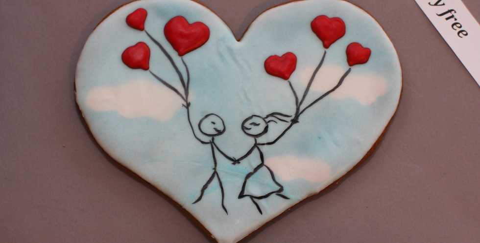 'Flying high' heart (dairy free)