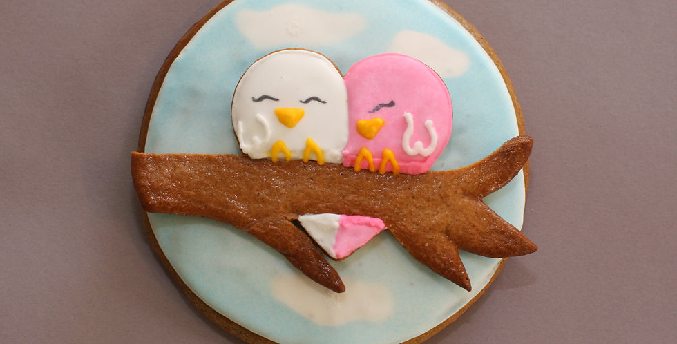 Lovebirds personalized (small)