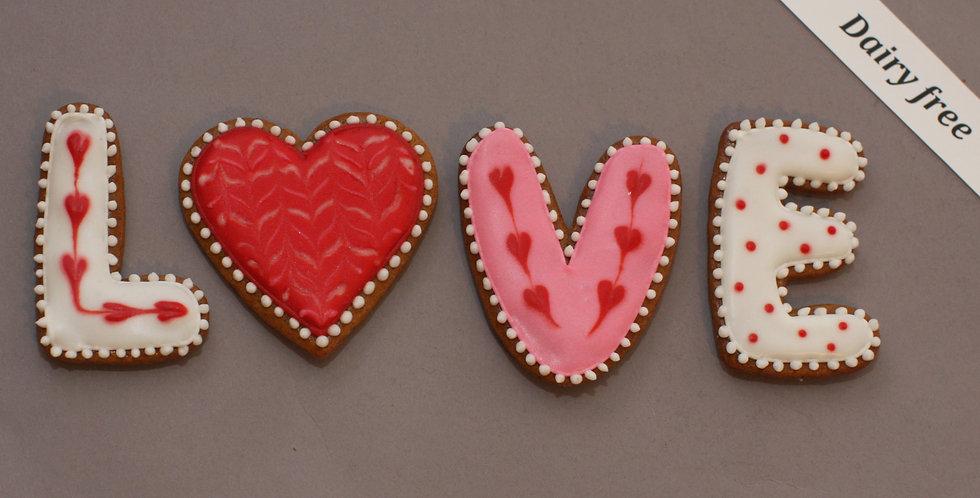 Cookies (LOVE) (dairy free)