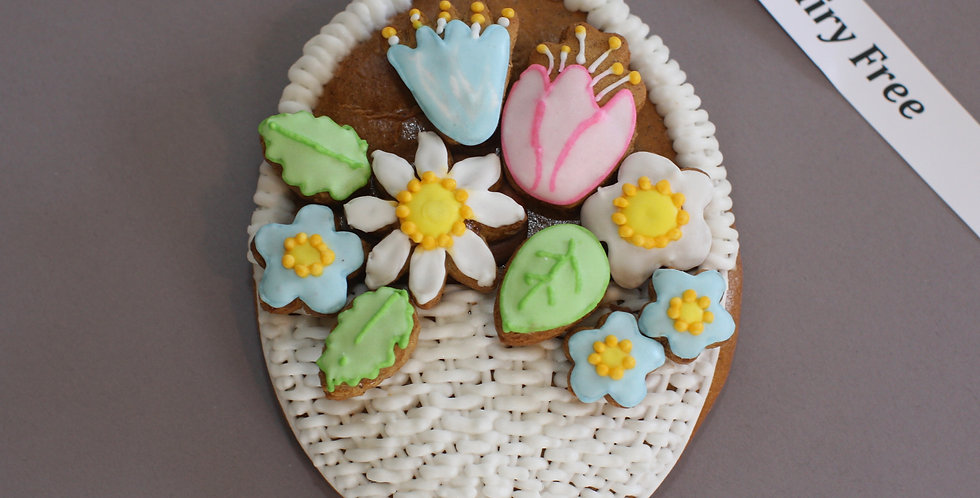 Basket with flowers 2D (dairy free)