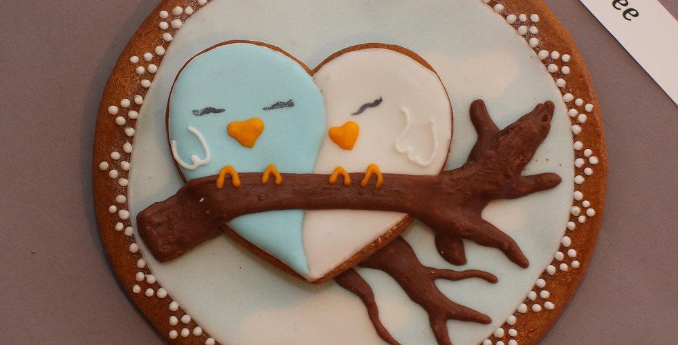 'Lovebirds' heart (dairy free)