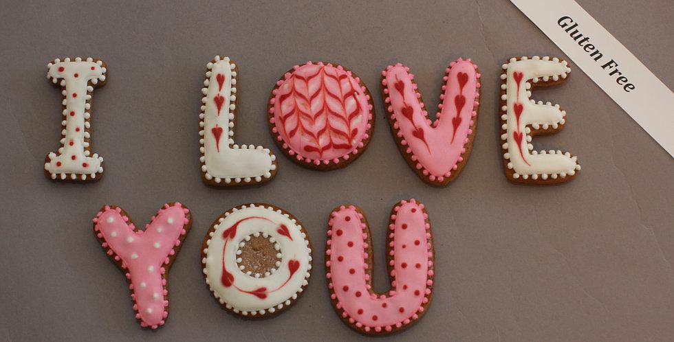 Cookies (I LOVE YOU) (gluten free)