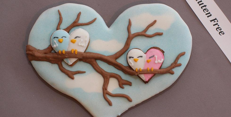 'Lovebird family' heart (gluten free)