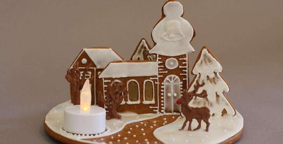 Winter scene with Rudolf