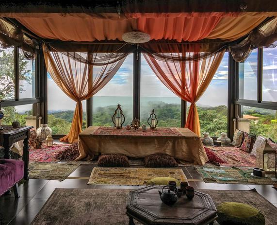 Indian inspired tea room